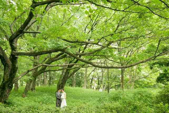 砧公園の芝生スペースでトリックフォトを撮影!
