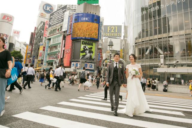 スクランブル交差点 東京のロケーションフォト