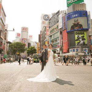 渋谷スクランブル交差点 フォトウェディング