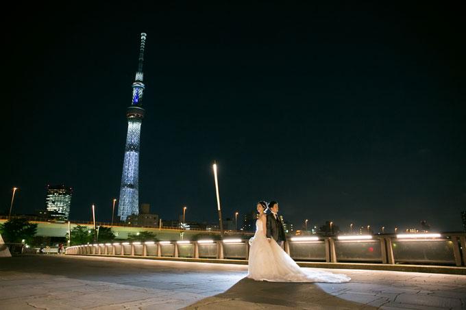 東京スカイツリーはフォトウェディングの定番スポット
