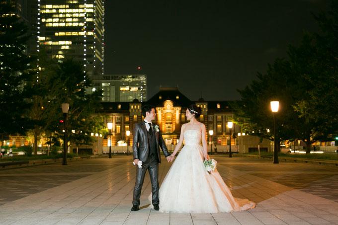 東京駅を結婚写真に収めるなら赤レンガ駅舎を正面に写せる行幸通りがテッパン