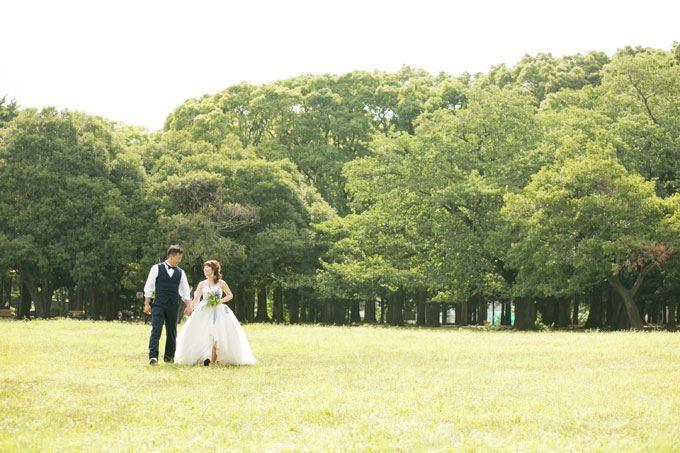 代々木公園で前撮り&フォトウェディング
