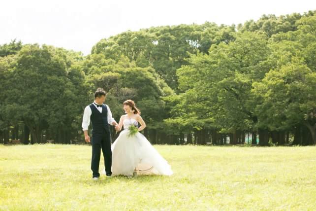 代々木公園と東京タワーを巡る前撮り&フォトウェディングのツアー