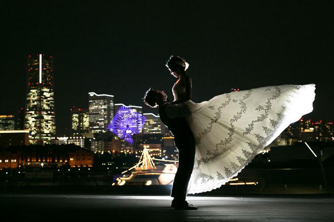 光を使って花嫁を輝かせた幻想的な前撮り&フォトウェディング