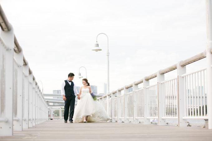 お台場海浜公園にはドレス姿で撮影したい前撮り&フォトウェディングにオススメのスポットが満載