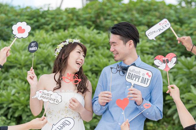 東京の結婚写真で使える無料オプションのフォトプロップス